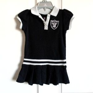 NFL Oakland Raider Toddler Silver And Black Dress